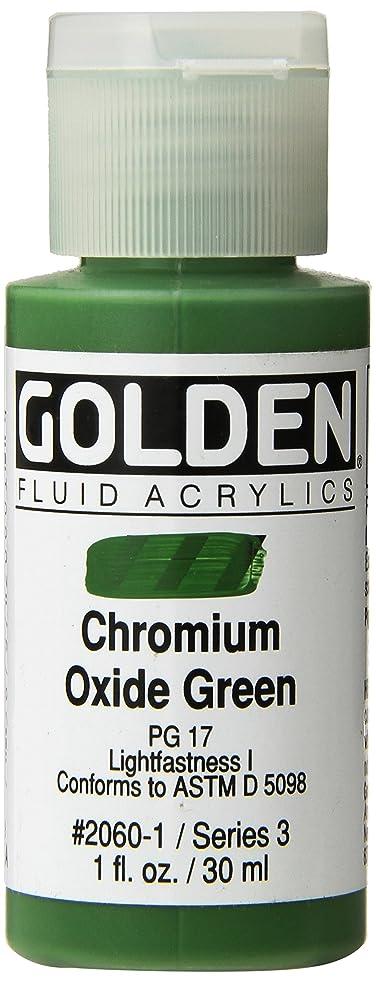 Golden Fluid Acrylic Paint 1 Ounce-Chromium Oxide Green