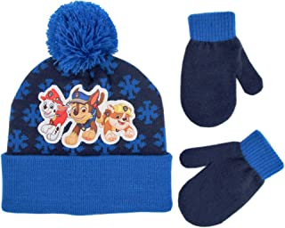 Nickelodeon boys Paw Patrol Beanie Hat and Mittens Cold Weather Set Winter Accessory Set Age 2-4
