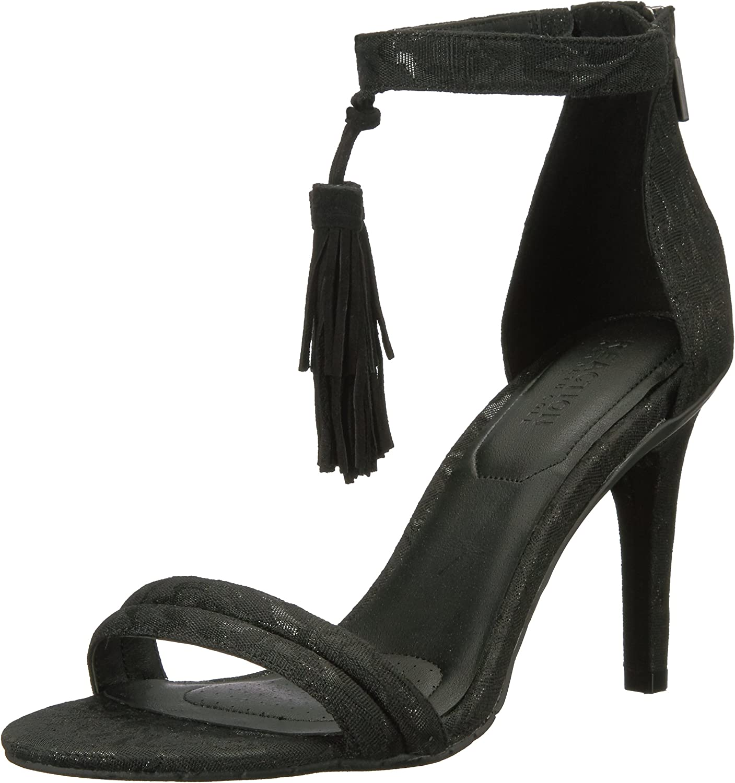 Kenneth Cole REACTION Womens Smash Light Two Piece Open Toe Stiletto Dress Sandal with Tassel Detail Dress Sandal