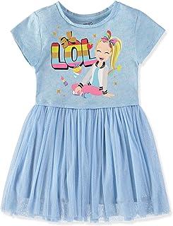 Nickelodeon Girls JoJo Siwa Short Sleeve Glitter Tulle Tutu Dress