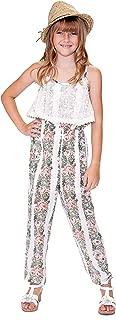 Big Girls' Designer Printed Spring/Summer Jumpsuit, Size 7-16