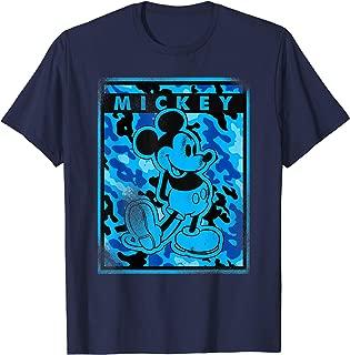 Disney Blue Camo Mickey Mouse Nation T-Shirt