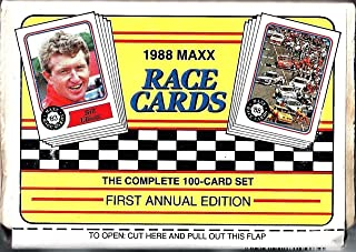 1988 Charlotte MAXX Set of 100 Race Cards 1st Annual Edition Factory Sealed