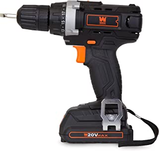 WEN 49120 20V MAX Lithium-Ion Cordless Drill/Driver with Battery, Bits and Carrying Bag