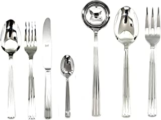 Mepra Sole 101928051 51 Pcs Flatware Set with Hollow Handles – Silver Tableware, Dishwasher Safe Cutlery (Renewed)