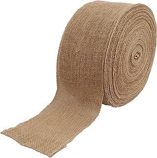 5 Inch Wide 54 Yards Burlap Ribbon, Natural Jute Fabric Ribbon Crafts Ribbon for Christmas Wedding Gifts Burlap Fabric DIY Ribbon for Decoration