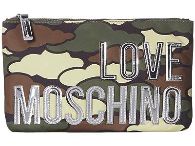 LOVE Moschino Logo Clutch w/ Strap (Fantasy Color B) Handbags