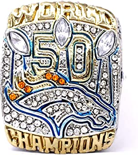 HASTTHOU Super Bowl Championship Replica Ring for Sports Fans (Von Miller) …, Without Box
