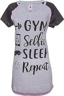 Womens Printed Pajama Dorm Nightgown Sleep Shirt