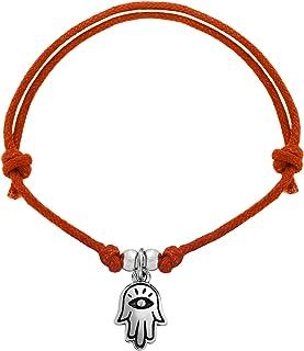 Tuscany 纯银女士手链 9 x 15.1 毫米手链 可调友谊手链 长度13 厘米/5 英寸 -25.5 厘米/10 英寸