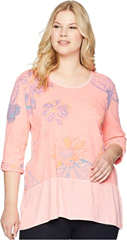Plus Size Summer Floral Windfall Top