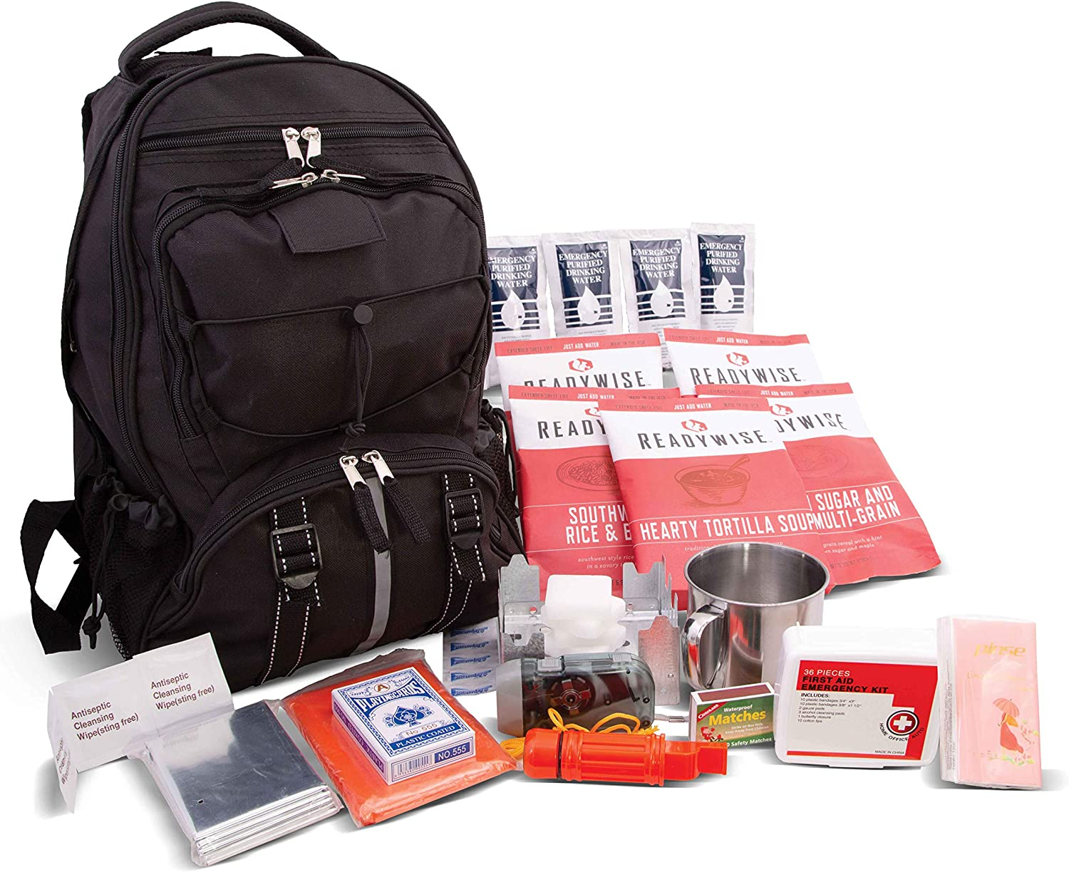 63 Piece Survival Backpack