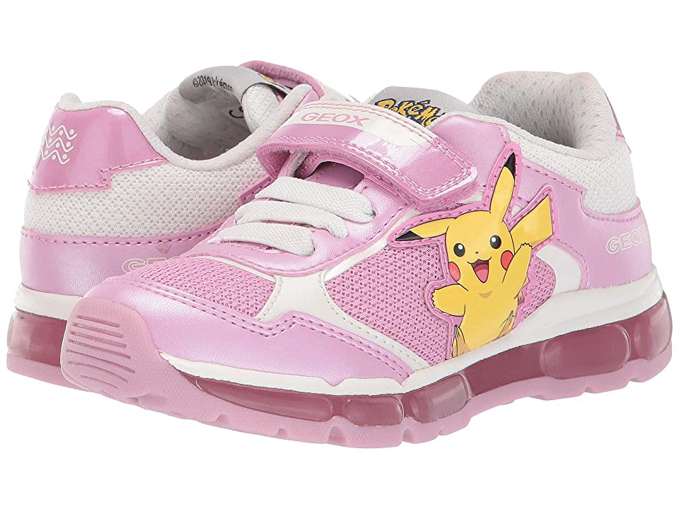 Geox Kids Android Girl 22 (Little Kid) (Pink/White) Girl