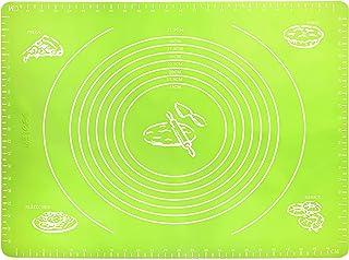 Aitsite Rodillo Ajustable,4 Medidas Multicolor,Anilla con Escala y Grosor Regulable,Tapete de Silicona Para Reposter/ía,Muy indicado Para Pizzas,Bizcochos,Masas de Pasta y Hojaldre etc