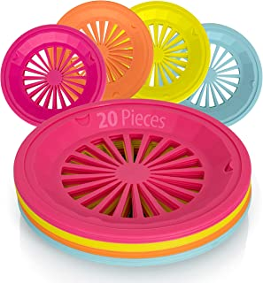 Besti Reusable Plastic Paper Plate Holders 10 Inch, 20 Piece Round Plastic Paper Plate Holder Set with Snap-In Grooves, Di...