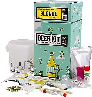 Saveur Bière - Kit de Brassage Débutant, Je Brasse ma bière Maison - 4L de bière - Idée Cadeau 100% découverte (Bière Blon...