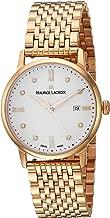 Maurice Lacroix Women's Eliros Swiss-Quartz Watch with Strap, Rose Gold, 15.8 (Model: EL1094-PVP06-150-1)