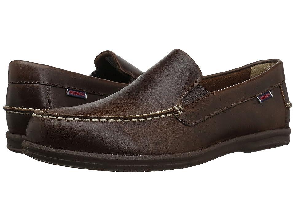Sebago Litesides Slip-On (Burnt Ivory Leather/Gum Outsole) Men's Slip on  Shoes