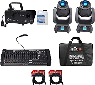 2) Chauvet Intimidator Spot 260 75w LED Moving Heads+Case+Controller+Fog