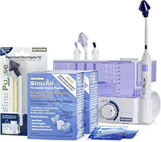 SinuPulse Elite Advanced Nasal Sinus Irrigation System with 60 Additional SinuAir Packets, Additional Replacement Sinus Ir...