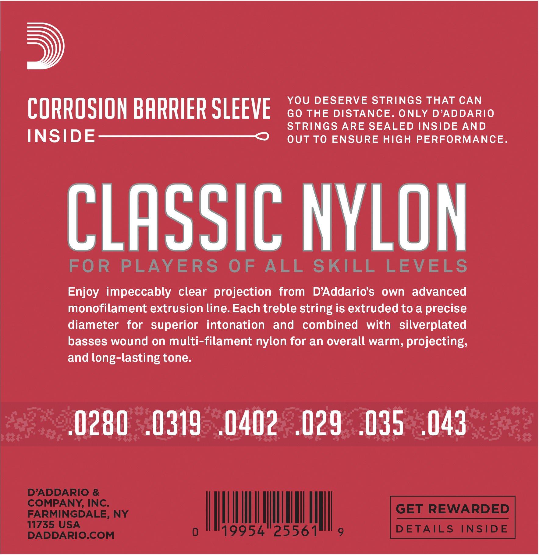 DAddario T4603 Juego de Cuerdas para Guitarra Clásica de Nylon: Amazon.es: Instrumentos musicales