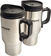 Wagan EL2227-1 12 Volt Heated Travel Mug - Set of 2