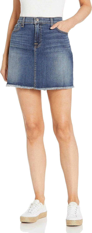 7 For All Mankind Women's A Line Mini Skirt