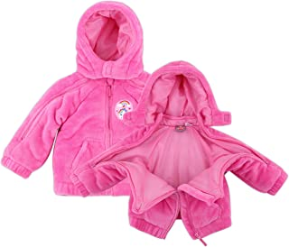 Infant Girl EZ Off Full Zip Hooded Warm Jacket - Great for Sleeping Children - Perfect Baby Gift