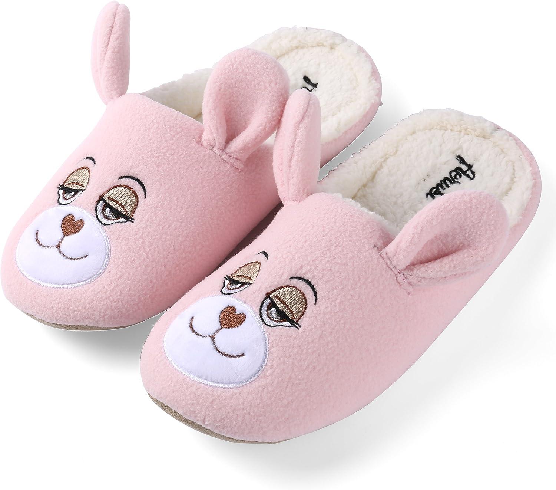 Aerusi SEP112043 Men or Women's Adult Teddy Bear Slippers, Pink, 11-12
