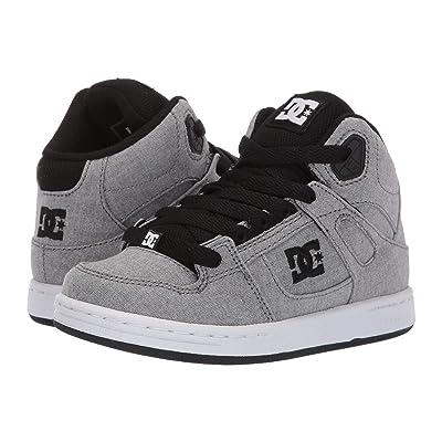 DC Kids Pure High-Top TX SE (Little Kid/Big Kid) (Grey) Boys Shoes