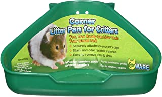 Ware Manufacturing Corner Litter Pan for Critters, Assorted Colors, 6.5