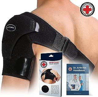 Doctor Developed Shoulder Support/Shoulder Strap/Shoulder Brace [Single] & Doctor Written Handbook - Relief for Shoulder Injuries, for Both Left & Right