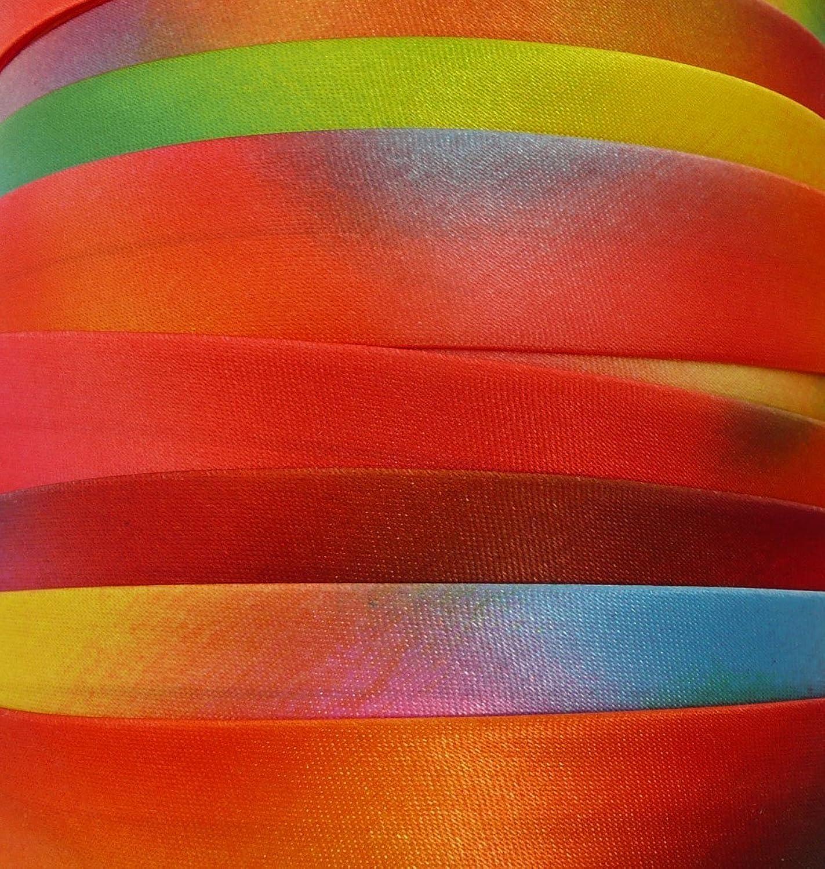 Fabric Bias Tape   Panel Red, Yellow, 20 MM ... PolyesterSatin (100 M)