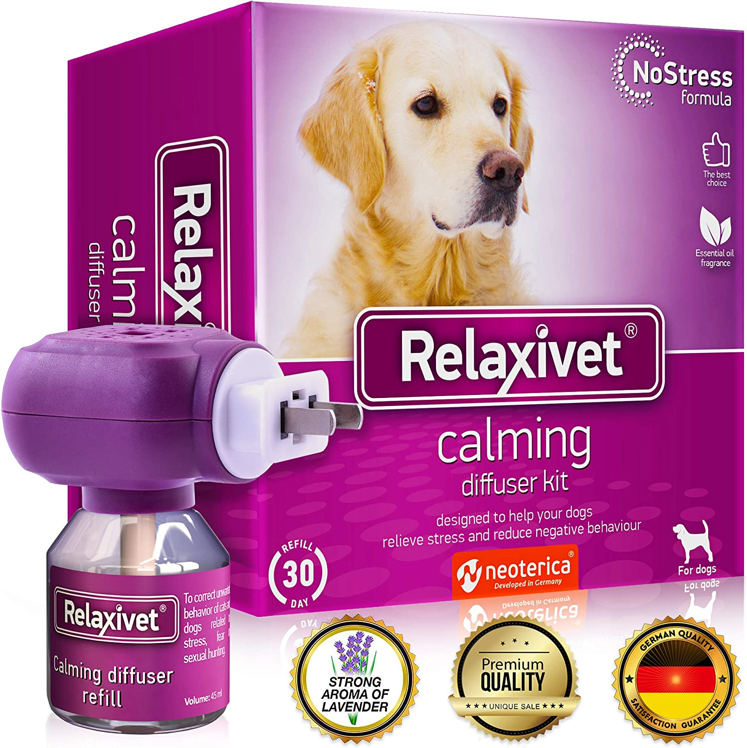 Sales of SALE items from new works Relaxivet Dog Calming Pheromone Diffuser No-Stres Improved Kit Excellence -
