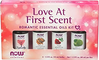 NOW Essential Oils, Love at First Scent Aromatherapy Kit, 4x10ml Including Bergamot, Cinnamon Cassia, Rose Absolute and ou...