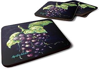 Caroline's Treasures MW1362FC Welch's Grapes Foam Set of 4 coasters, Multicolor