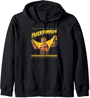WWE Hulkamania Ugly Sweater Zip Hoodie