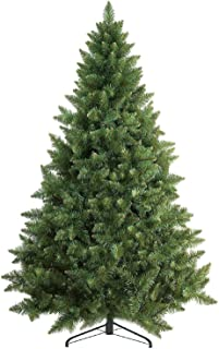Prextex 6 Feet Premium Artificial Spruce Hinged Christmas Tree Lightweight/Easy to Assemble with Christmas Tree Metal Stan...
