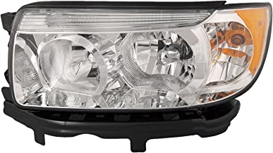 HEADLIGHTSDEPOT Chrome Housing Halogen Headlight Compatible with Subaru Forester 2006-2008 w/o Sport Package Includes Left Driver Side Headlamp
