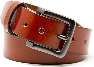 حزام جلدي منطقي للرجال - أحزمة جلد محبب بالكامل متينة