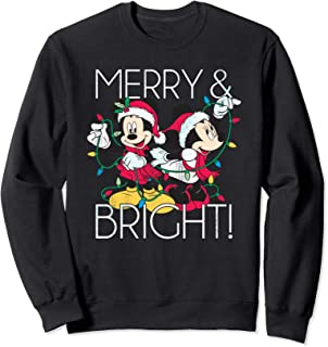 Minnie and Mickey Merry N Bright Foil Sweatshirt