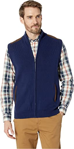 Cotton-Zip Sweater Vest