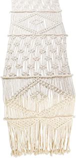Folkulture Macrame Table Runner 120 Inches x 13 inches, Boho Fall Table Runner for Bohemian Rustic Wedding Dining Table or...