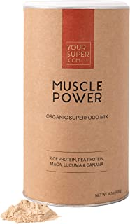 Your Super Muscle Power Superfood Mix - Plant Based Protein Powder, Workout Recovery, Non-GMO, Organic Rice...
