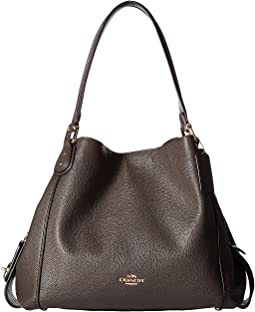 Polished Pebbled Leather Edie 31 Shoulder Bag