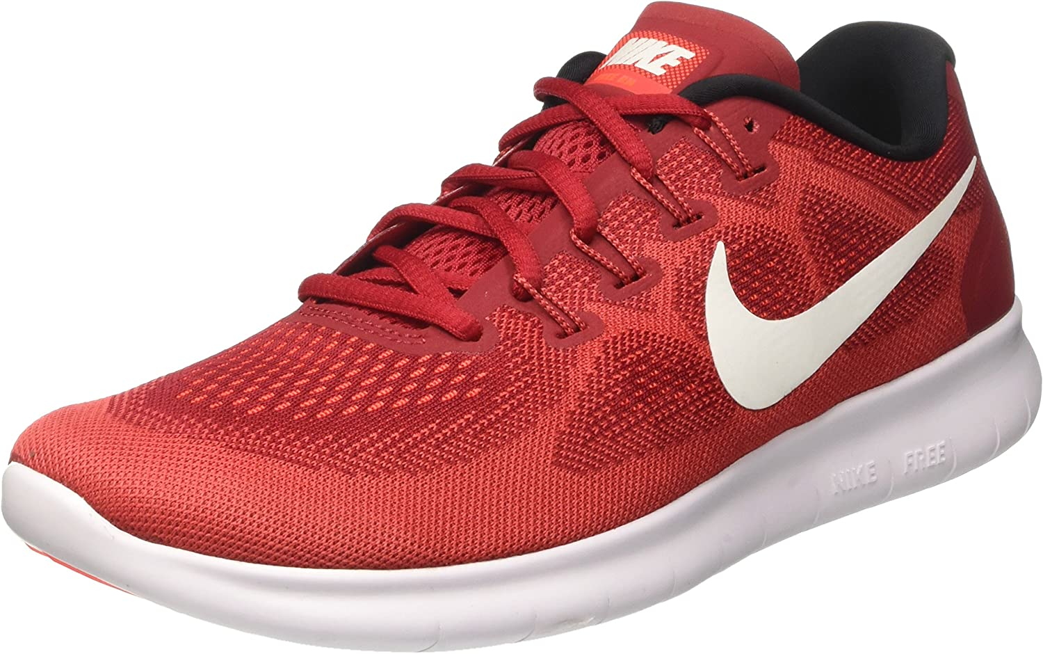 NIKE Free Run 2017 (11, Game Red Off White  Track Red)