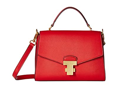 Tory Burch Juliette Small Top-Handle Satchel (Ruby Red) Satchel Handbags