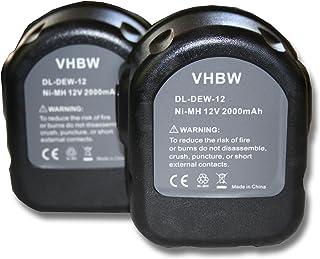 vhbw 2x Baterías para herramientas Rems 571510, 571513, R12 (2000mAh, 12VNi-MH)