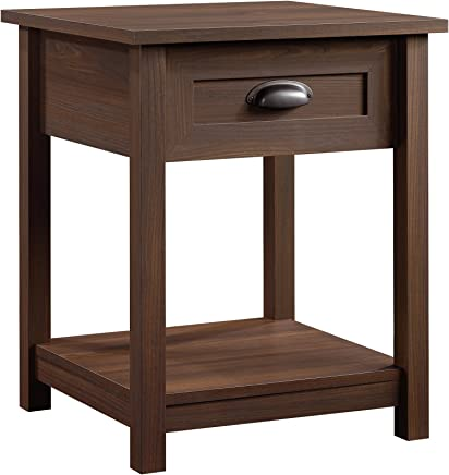 Sauder 415998 County Line Night Stand,  L: 21.50 x W: 21.50 x H: 25.00,  Rum Walnut finish