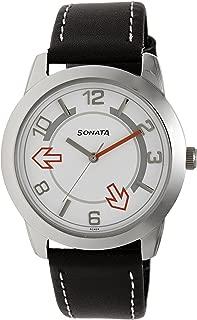 Yuva Analog White Dial Men's Watch-NK7924SL03